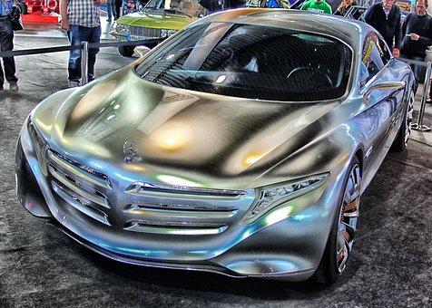 Mercedes Benz, F125, Car, Auto, Automobile, Hdr