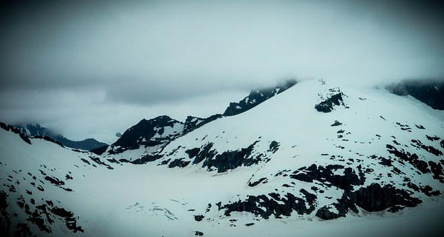 Alaska, Mendenhall Glacier, Mountains, Snow, Landscape