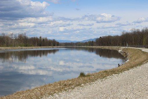 Mur, Kalsdorf, River, Reservoir, Away, Water Surface