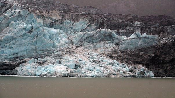 Alaska, Glacier, Calving, Landscape, Water, Nature, Usa