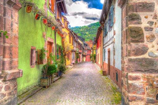 Kaysersberg, Alsace, France, Photo Filter, Filter