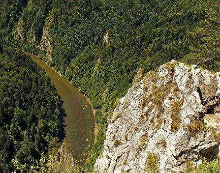 Pieniny, Sokolica, Dunajec, River, Landscape, Nature