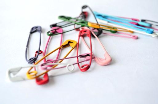 Safety Pin, Fixing Pin, Pins, Colors, Stationery