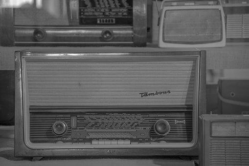 Radio, Tube Radio, Antique, Old, Speakers, Retro