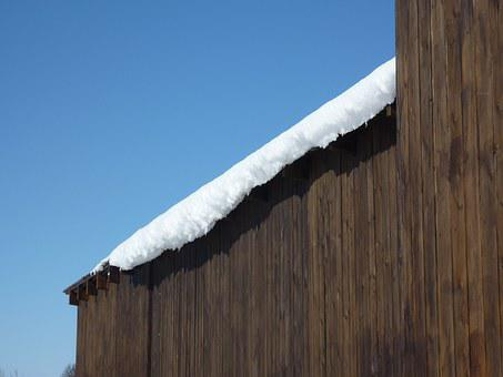 Snow, Stall Wall, Sunshine, Blue Sky, Winter