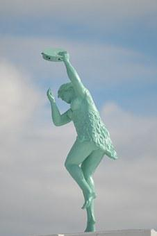 Statue, Whitley Bay, Spanish City, Figure, Sky