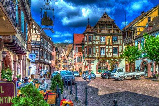 Kaysersberg, Alsace, France, Truss, Historic Center