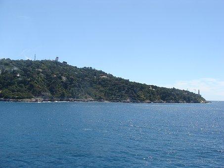 Port, Villa Franch, Monaco, Beach, Water, In Europe