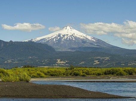 Volcano, Villarica, Rucapillan, Nature, Landscape