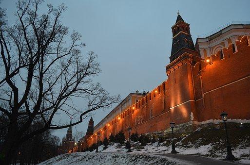 Kremlin, Russia, Wall, Moscow, Landmark, Famous
