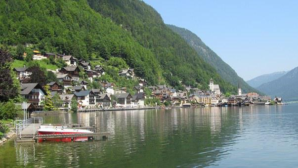 Hallstadt, Lake, Alpine, Water, Mountains, Village