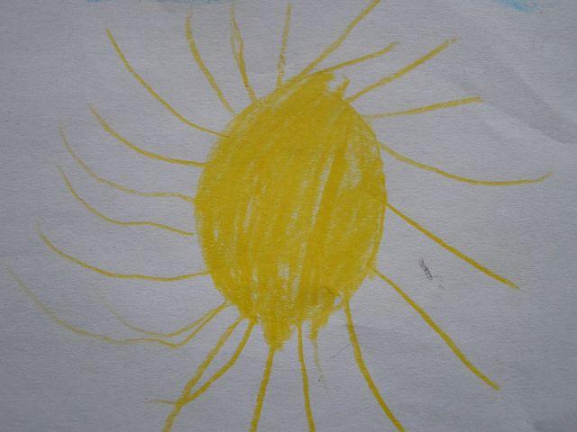 Sun, Children Drawing, Character Development, Yellow