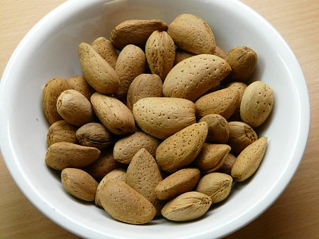 Almonds, Nuts, Shell, Food, Almond Bowl