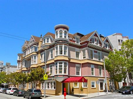 Architecture, Hotels, Sutter, Queen, Anne, House