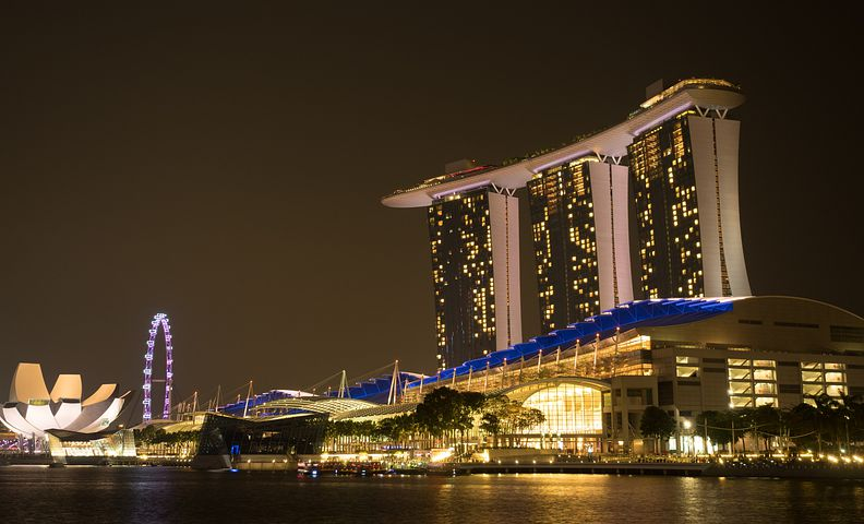 Singapore, Asia, City, Building, Hotels, Hotelanlange