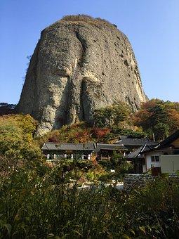 Landscape, Maisan, Section, Autumn Leaves, Jing'an