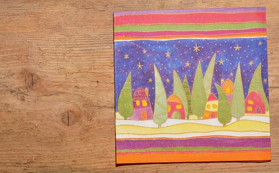 Christmas Napkin, Napkin, Wood, Background