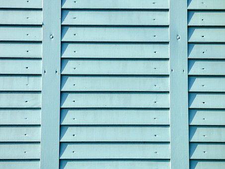Background, Wood, Light Blue, Fence, Texture, Design