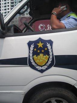 China, Police, Jing Cha, Crest, Logo, Police-van, Badge