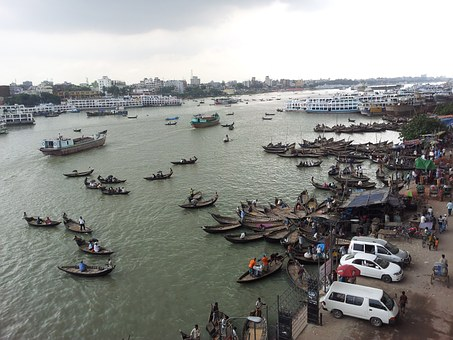 Bangladesh, Dhaka, Buriganga River, People, Asia