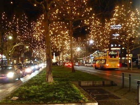 Kurfürstendamm, Berlin, Christmas, Night