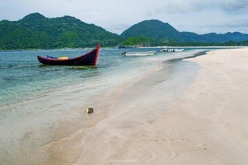 Beach, Peace, Boat, Aceh, Lampuek, Asia