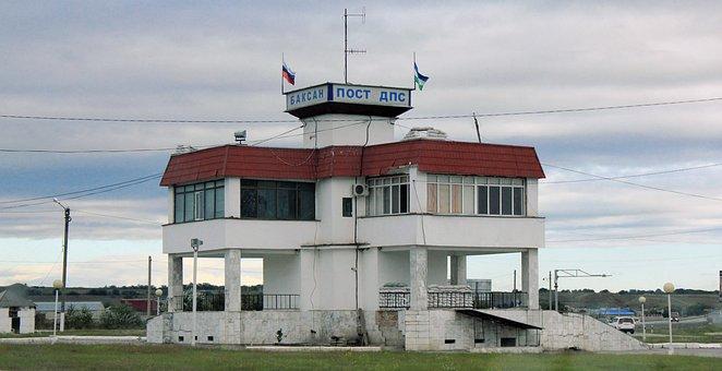 Nalchik, Border, Russia, Checkpoint, Police