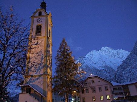 Winter, Tyrol, Zams, Christmas, Snow, Morgendstund