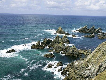 Cliff, Rocks, Loiba, Coruña
