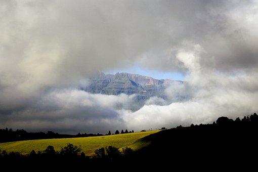 Mountains, Clouds, Drakensburg, Nature, Landscape, Sky