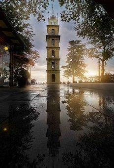 Sunset, Solar, Landscape, Clouds, Reflection