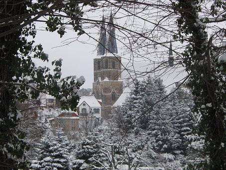 Duderstadt, Eichsfeld, Church, Nature, Winter, Cold