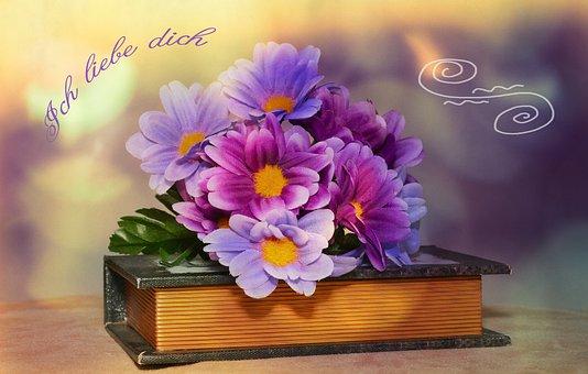 Flowers, Artificial Flowers, Book, Font, Bokeh