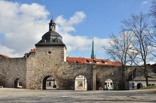 Mühlhausen, Thuringia Germany, Frauentor, City Wall