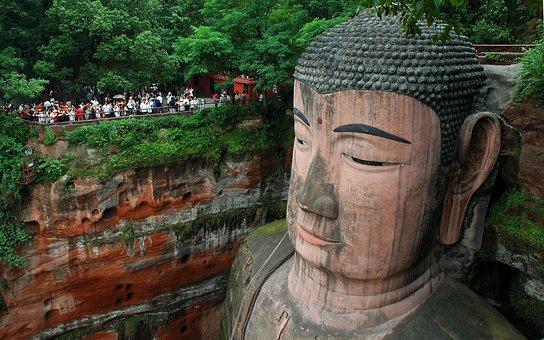 Buddha, Giant, Leshan, China, Religious Sculpture