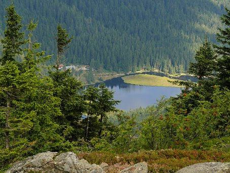 Kleiner Arbersee, Arbersee, Great Arber, Mountains