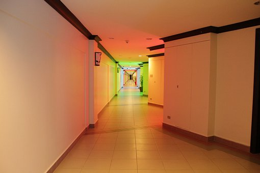 Rainbow Hallway, Hallway, Colors, Rainbow Colors