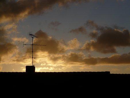 Antenna, Home, Roof, Watch Tv, Sky, Send, Transmitter