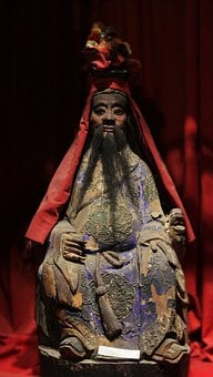 Chinese, Statue, God Of Medicine, Acupuncture, Hua T'o