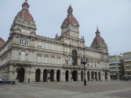 City Hall, Spain, Europe, La Coruna