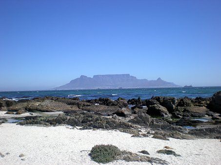 Table Mountain, Table Bay, Mountain, Flat Mountain
