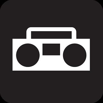 Music, Sound, Radio, Radio Cassette Recorder, Black