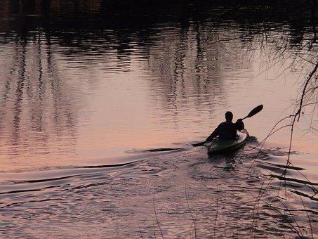 Kayakers, Kayak, Paddle, Rowing, Water, Canoeing
