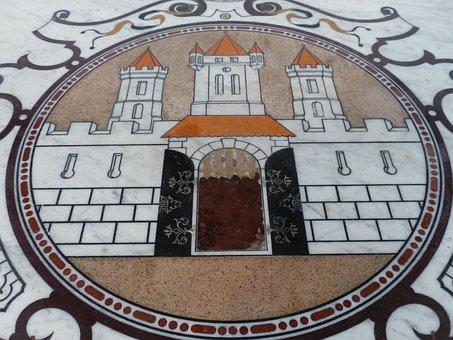 Table Top, Marble, Mosaic, Schloss Hellbrunn, Hellbrunn