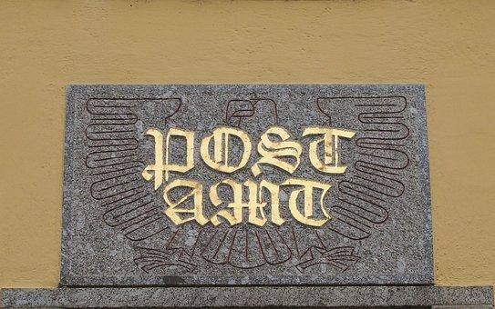 Post Office, Post, Input, Shield, Board, Old