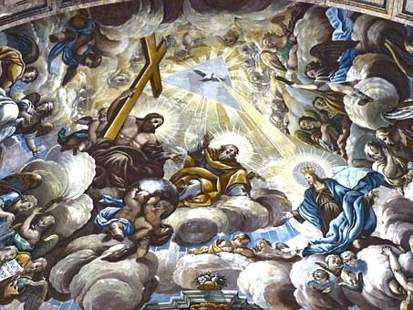 Bobeda, Fresh, Baroque, Cathedral Tortosa, Sky, Concept