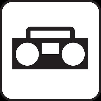 Music, Sound, Radio, Radio Cassette Recorder, Symbol