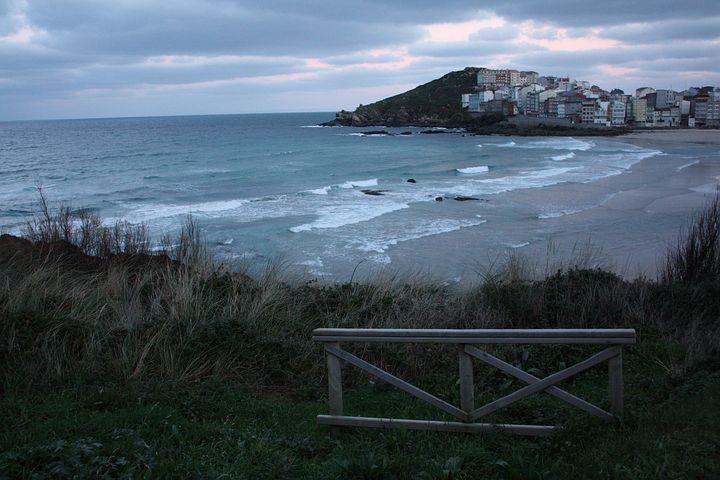 Beach, Galicia, Sea, Costa, Landscapes, Coruña, Sunset