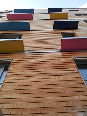 Architecture, Building Low Consumption, Facade Wood