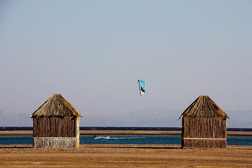 Straw Hut, Hut, Holiday, Sea, Beach, Lagoon, Outlook